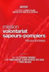 Couverture du Rapport de la Mission volontariat sapeurs-pompiers
