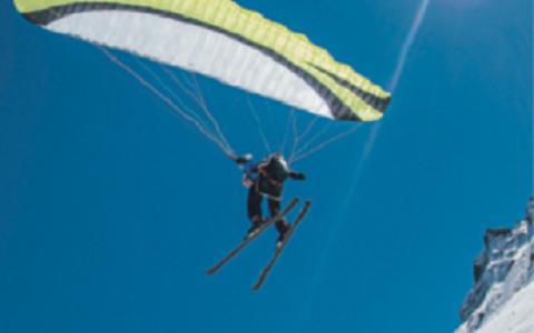 Parapente ski et vol