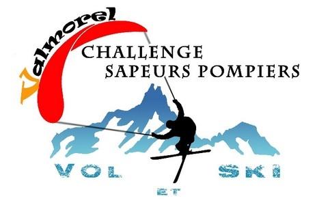 Logo du challenge vol et ski des sapeurs-pompiers