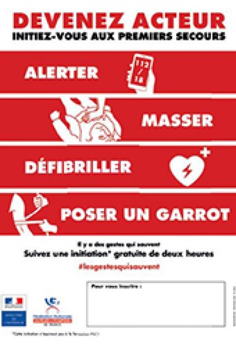 Affiche Initiation aux premiers secours