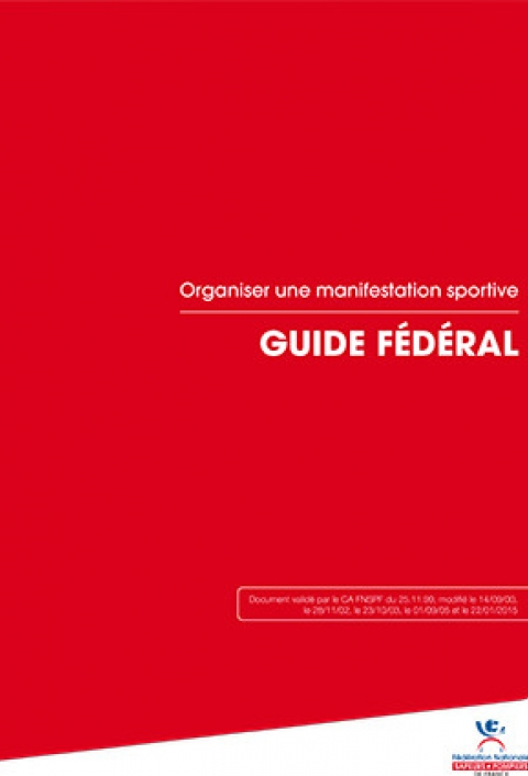 Guide fédéral : Organiser une manifestation sportive