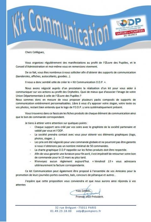 Kit Communication - Bon de commande