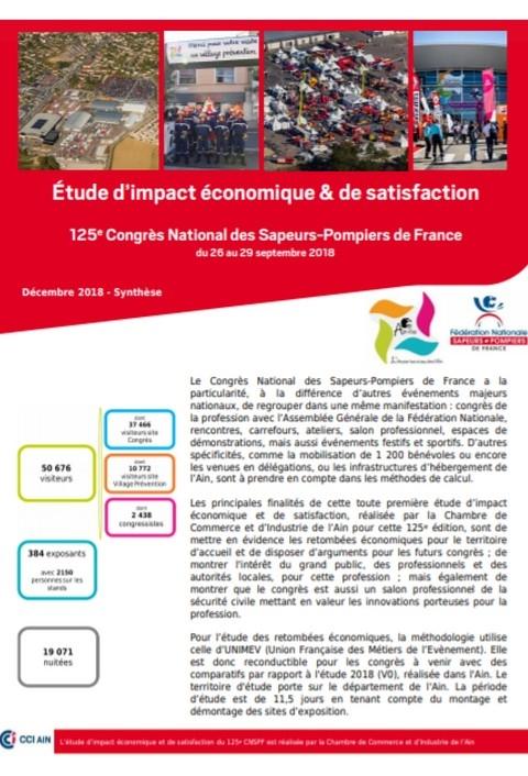 Étude d'impact économique et de satisfaction du congrès national des sapeurs-pompiers de France à Bourg-en-Bresse 2018