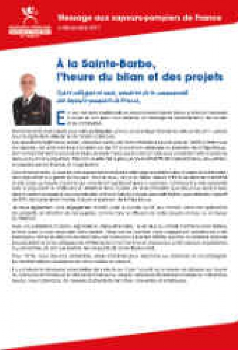 Visuel Message E.Faure - Sainte Barbe 2017