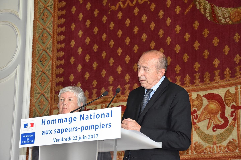 JNSP2017 - Discours de Gérard Collomb, ministre intérieur, à Place Beauvau