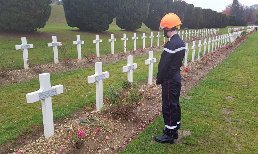 Centenaire 14-18 : hommage aux sapeurs-pompiers tombés pendant la Grande Guerre